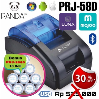 MINI PORTABLE/MOBILE RECIEPT POS PRINTER PANDA PRJ-58D 58MM KERTAS THERMAL KASIR/PPOB(USB+BLUETOOTH)