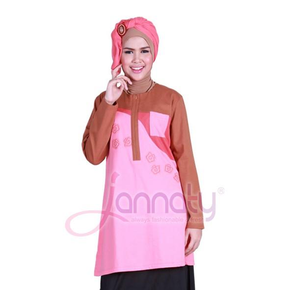 Blus / Tunik / Baju atasan simple terbaru Jannaty JNY-53