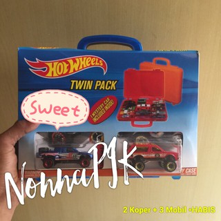 Hot Wheels Twin Pack CARRY CASE Murah (isi 3pcs Hot Wheels + 2 Box HotWheels) EDISI HOT BOX