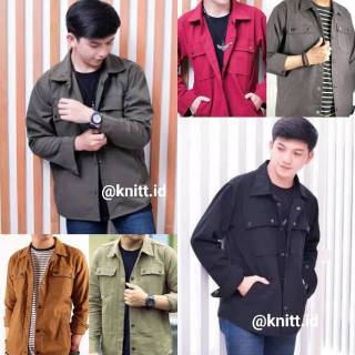 MARK JAKET TRUCKER SEMI PARKA 6 Warna Grosir Knitt.id