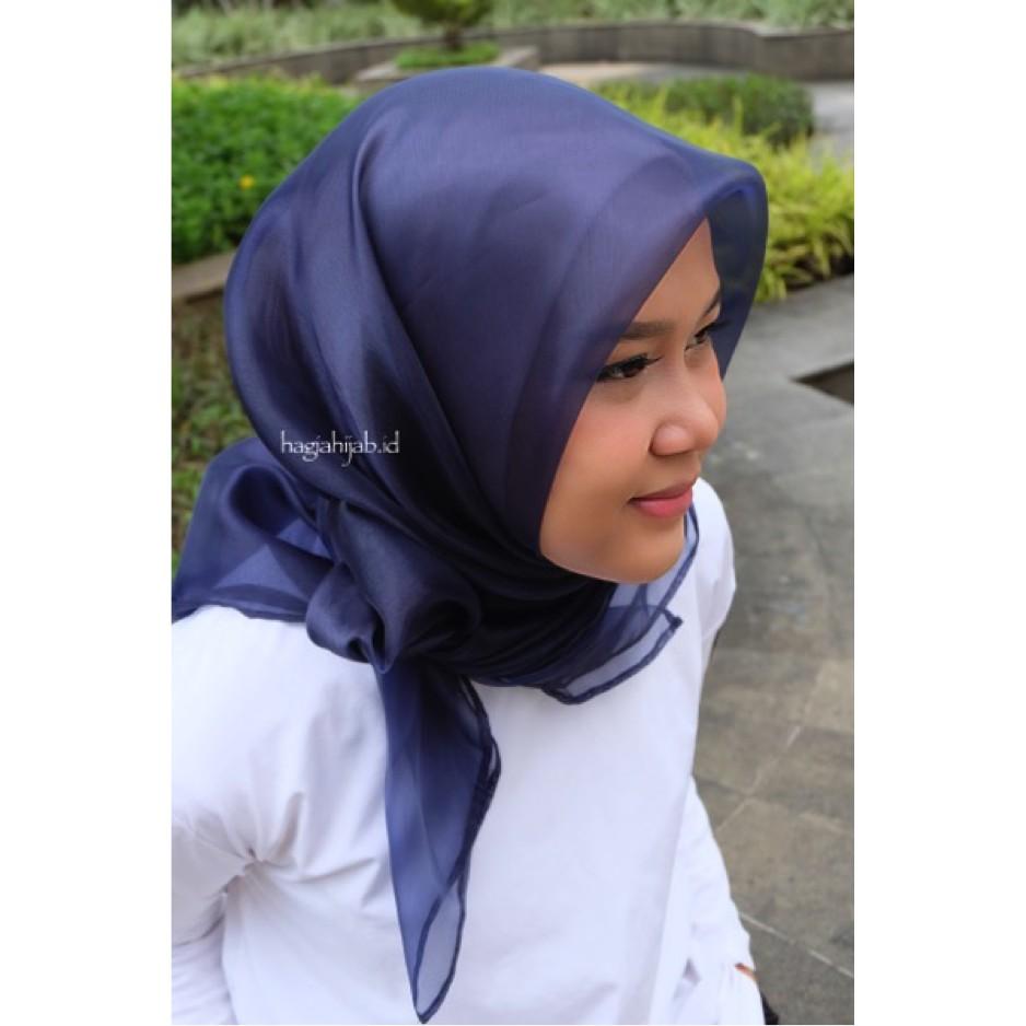 [BANYAK WARNA] Organdi Organza Jilbab Kerudung Hijab Square Segiempat Murah Wanita
