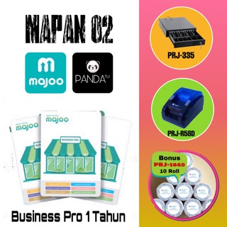 MESIN KASIR ANDROID (MAJOO 1 THN+CASH DRAWER+PRINTER THERMAL BLUETOOTH+BONUS KERTAS THERMAL)