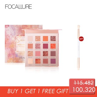 Focallure SUNRISE Palet Eyeshadow 16 Warna - Original 100% Produk Baru Eksklusif