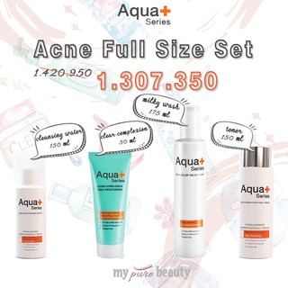 (MUST TRY! BEST FOR ACNE) Aqua + Series Paket untuk Jerawat Full Size
