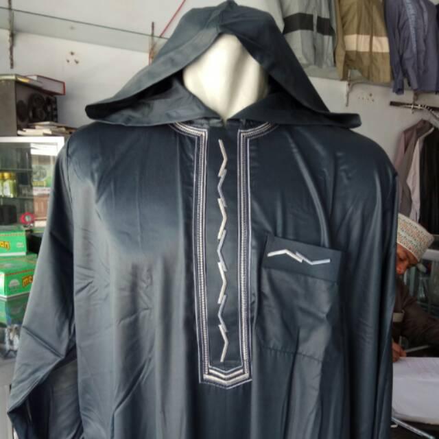 Jubah saudi ALNOOR AL NOOR model kupluk / tutup kepala / hoodie / burnus. / jubah kupluk alnoor