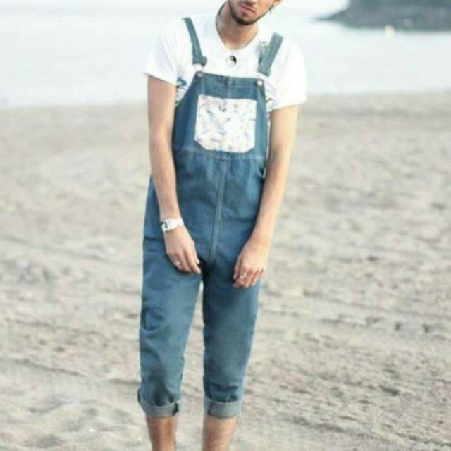 Baju kodok pria jeans
