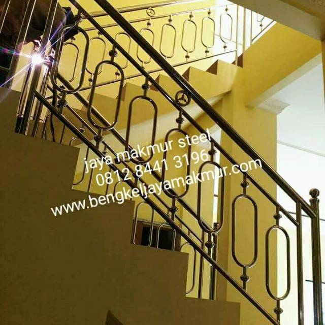 Railing Tangga Stainless Kapsul Shopee Indonesia