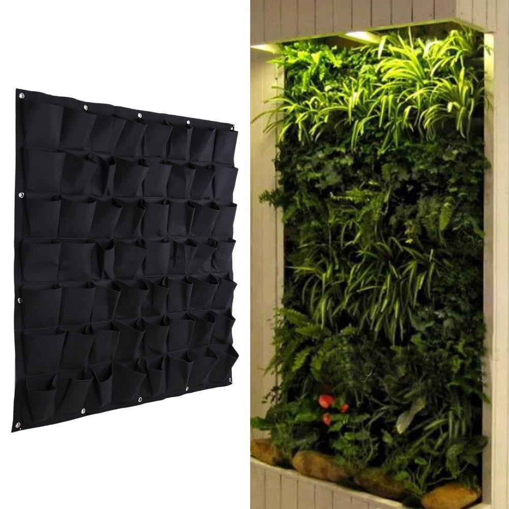 Vertical Garden Planters >> 56 Pocket Hanging Vertical Garden Planter Indoor Outdoor Herb Pot Decor Isepeda Id