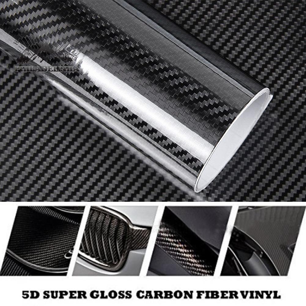 11.8*78.7/'/' DIY Cars Auto 3D Carbon Fiber Sticker Wrap Sheet Roll Film 10 Colors