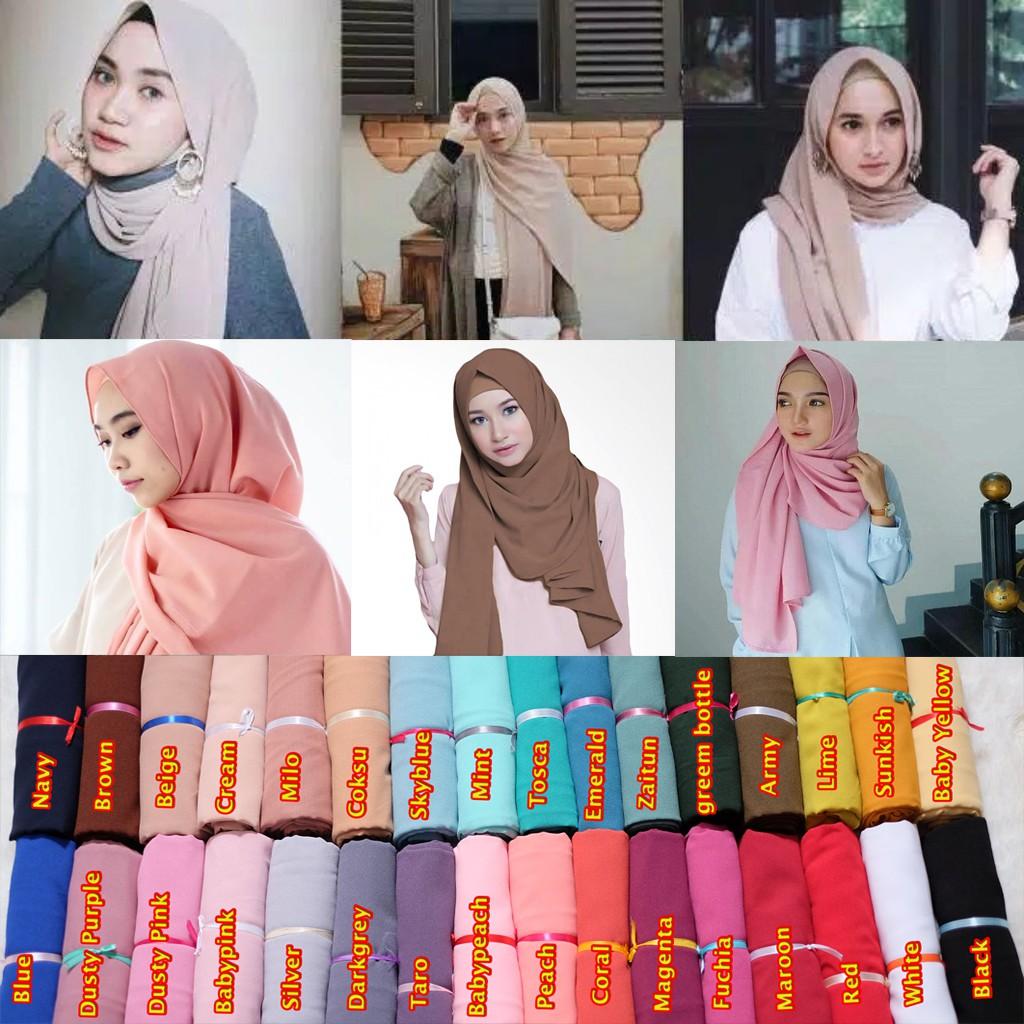 Promo Ramadhan 2020 Jilbab Pashmina Sabyan Diamond Italiano Shopee Indonesia