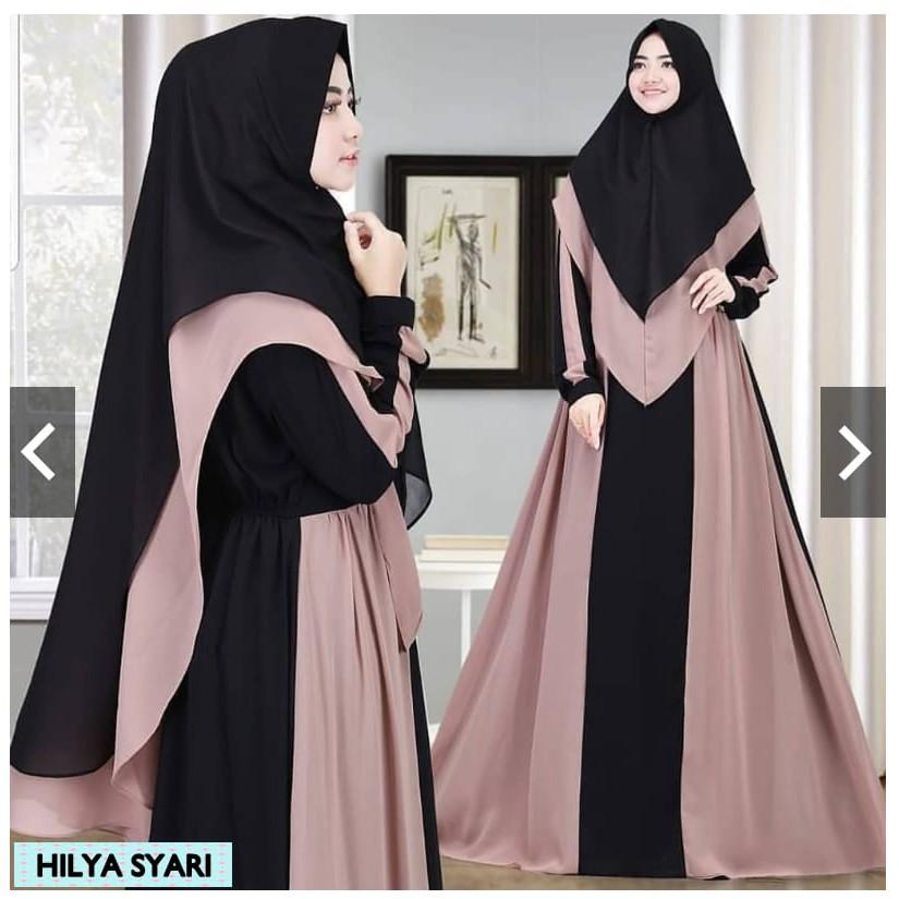 Hilya Syari Gamis Wanita Muslimah Model Terbaru 2020 Gamis Hijab Gamis Syari Muslimah Trendy Shopee Indonesia