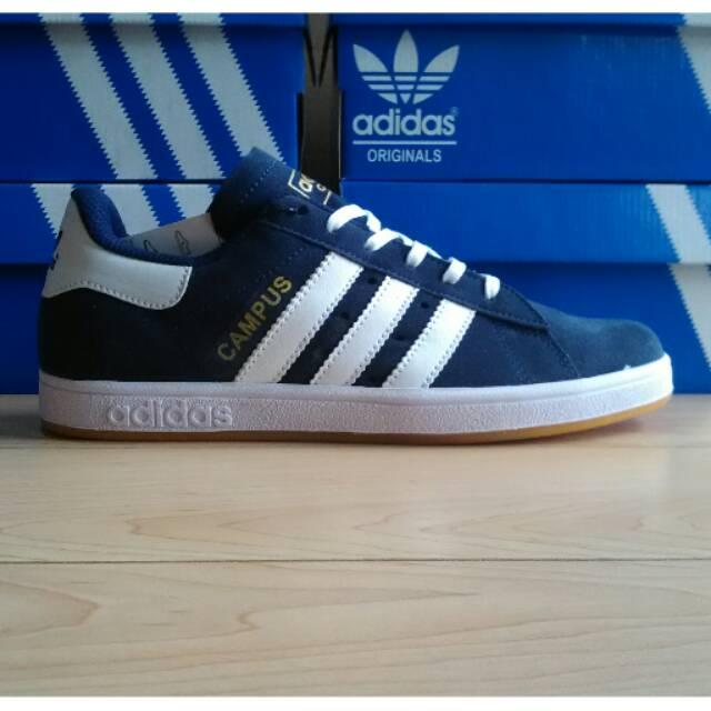 Adidas Campus Navy Sol Pentil Grade Ori Shopee Indonesia