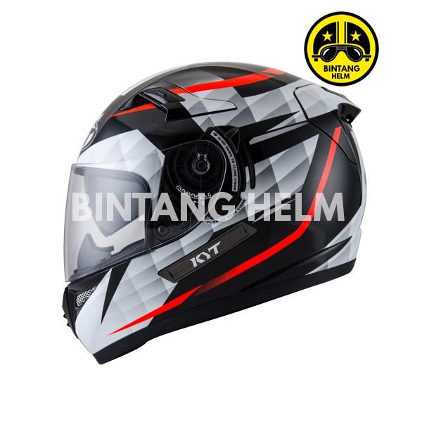 Kyt K2 Rider Diamond Black White Shopee Indonesia