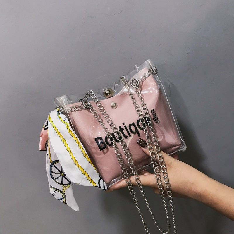 Ins super api tas kecil 2018 musim panas versi Korea pencetakan baru tas persegi kecil bahu