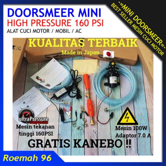 Mesin Cuci Motor Mobil AC MURAH Portable - Doorsmeer Pompa Mini | Shopee Indonesia
