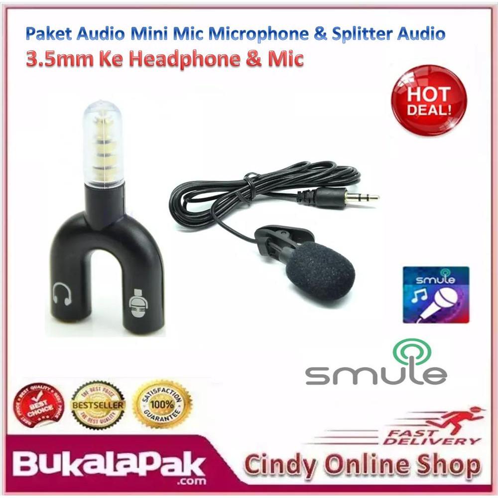 Paket Audio Mini Mic Microphone Spliter Splitter Shape U 3 5mm Smule Dengan Headset Jack 35 Ke Headphone Shopee Indonesia