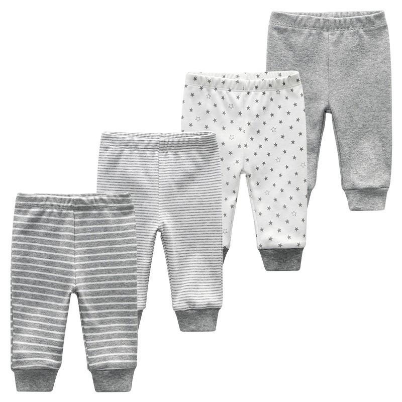 Baby Long Pants Newborn Unisex Girl Boy Trousers 4pcs Lots Striped Baby Leggings Cotton Pantalones Shopee Indonesia