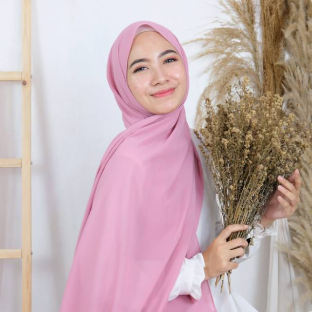 Pashmina Ceruty Babydoll Premium Tepi Jahit Ceruti Pasmina Hijab Ceruty Shopee Indonesia