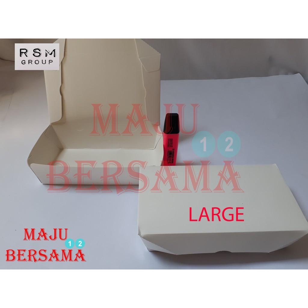 Box Lunchbox Paper M Kotak Nasi Tempat Makan Takeaway 100 Pcs Lunch Merk Ergopak Kertas Dus Makanan Meal Take Away Size