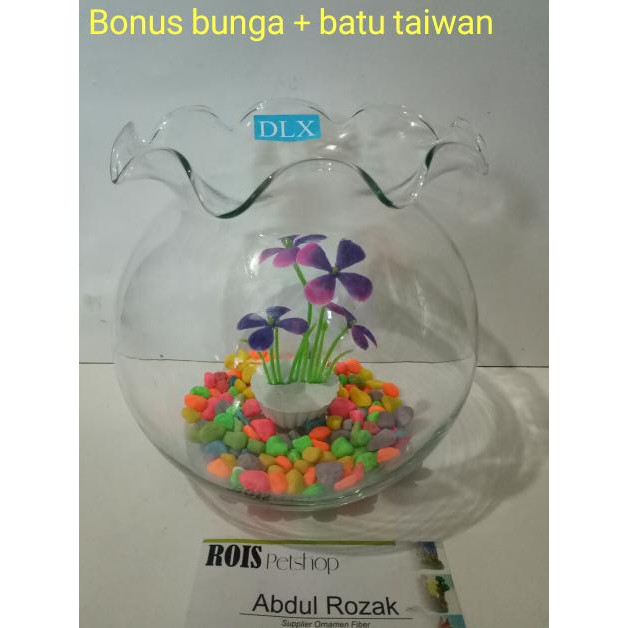 Jam Khusus Gosend Aquarium Bulat Aquarium Toples 1 5 Liter Produk Premium Model Baru Shopee Indonesia