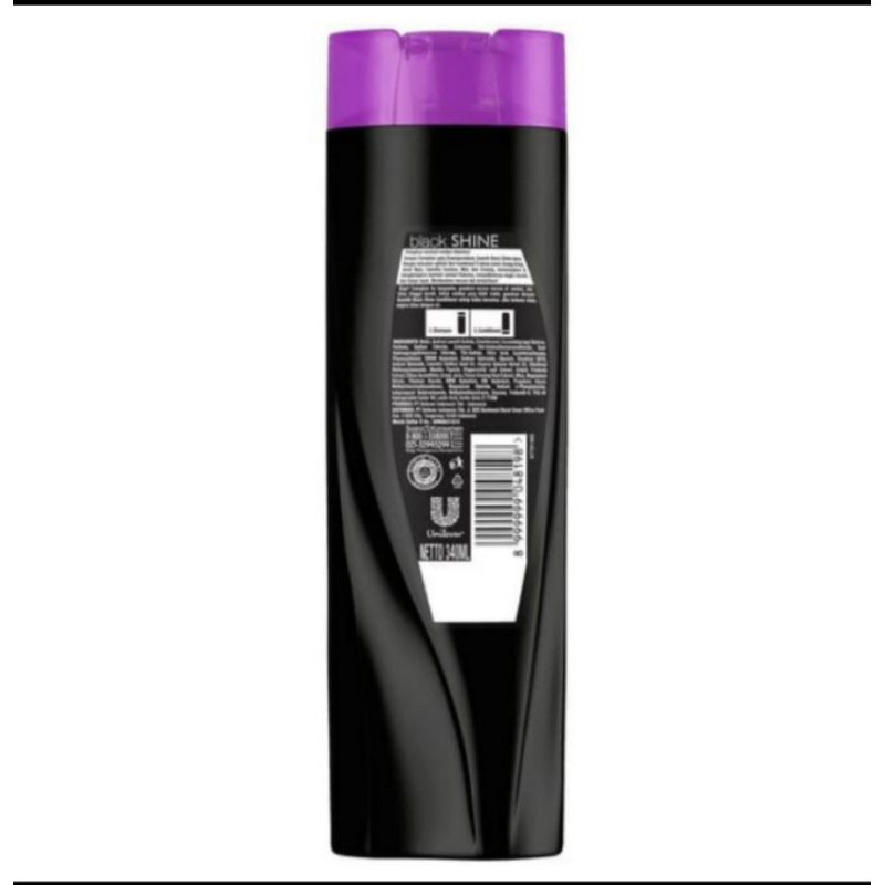 shampo sunsilk black SHINE 340 ml-2