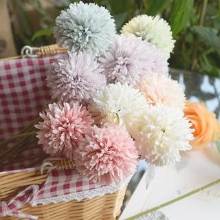 bunga hias plastik pot tangkai dandelion tanaman