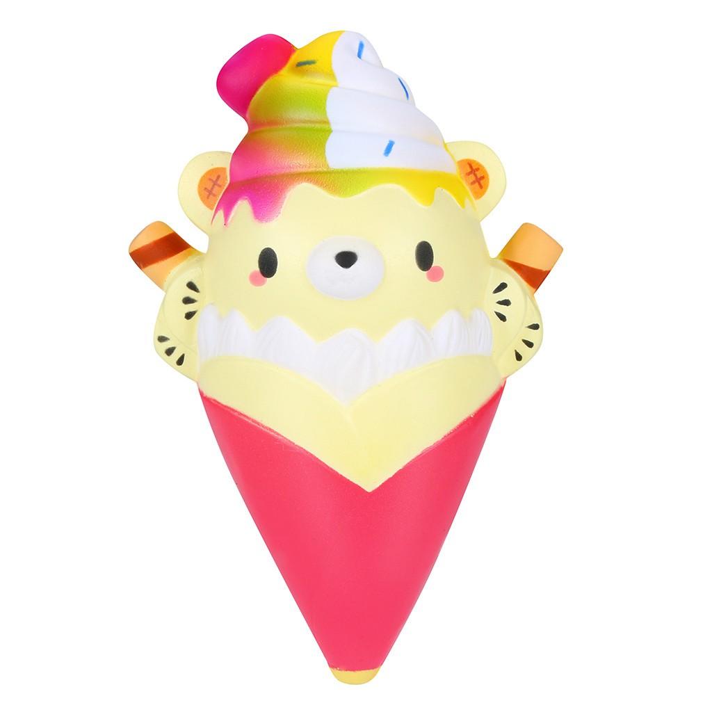Kawaii Squishies Kartun Es Krim Beruang Naik Cream Beraroma Stres Relief Mainan