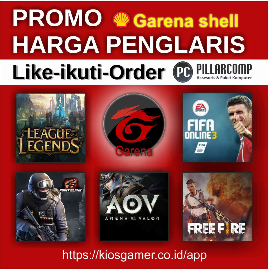 Voucher Game Garena Aov Arena Of Valor Shopee Indonesia Lyto Gameon 35k
