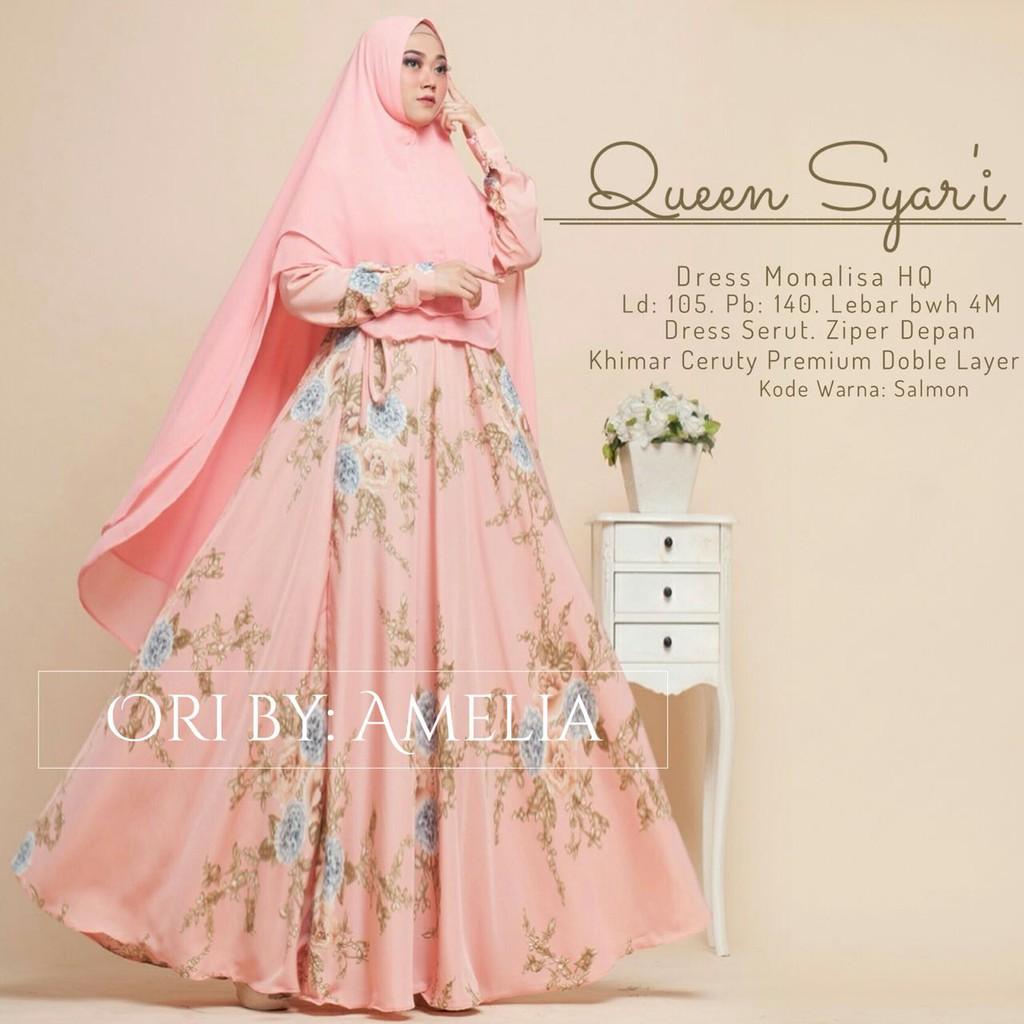 Queen Gamis Syari by Amelia busana wanita muslimah
