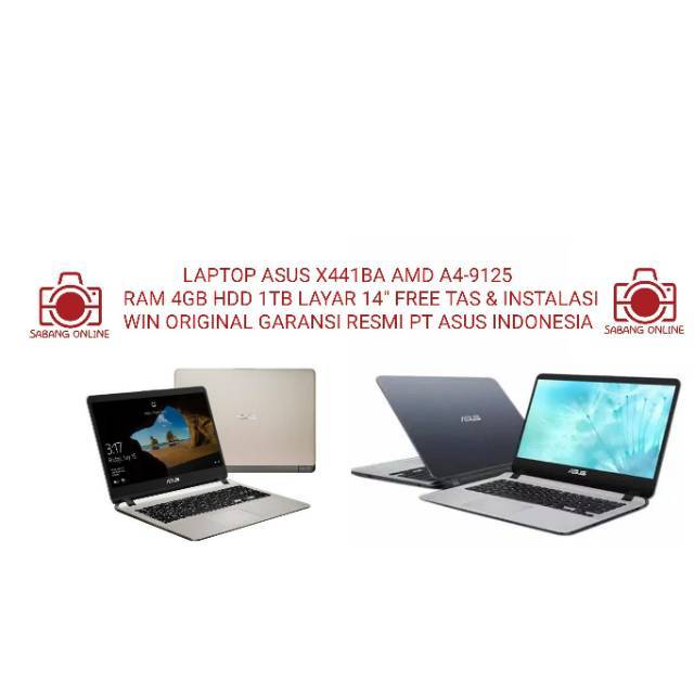 Laptop Asus X441ba Amd A4 9125 Ram 4gb Hdd 1tb Win Ori Shopee Indonesia