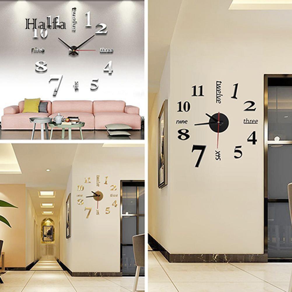 HL Jam Dinding 3D DIY Angka Arab untuk Dekorasi Rumah  184839bb93