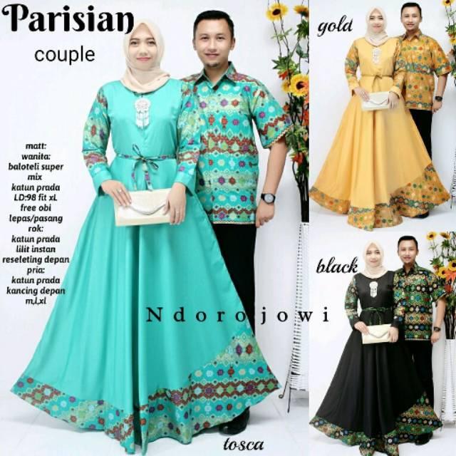 Batik Couple Parisian,Sarimbit Gamis S