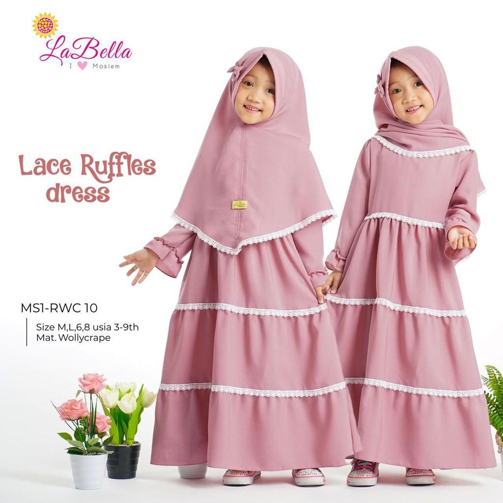 Gamis Anak Labella Original Gamis Dress Anak Perempuan Balita Baju Muslim Anak Syari Renda Cantik Shopee Indonesia