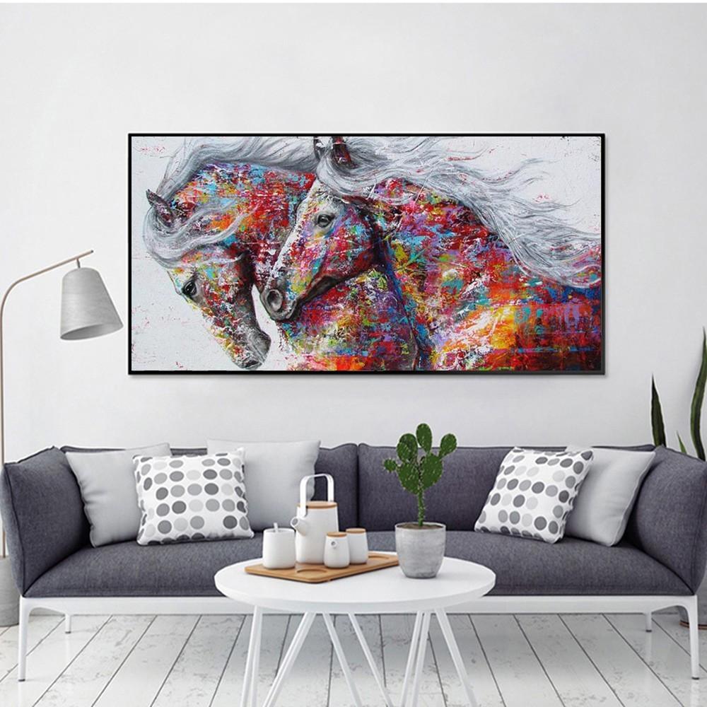 DIY Lukisan Diamond 5D Dengan Gambar Kuda Untuk Hiasan Dekorasi Rumah