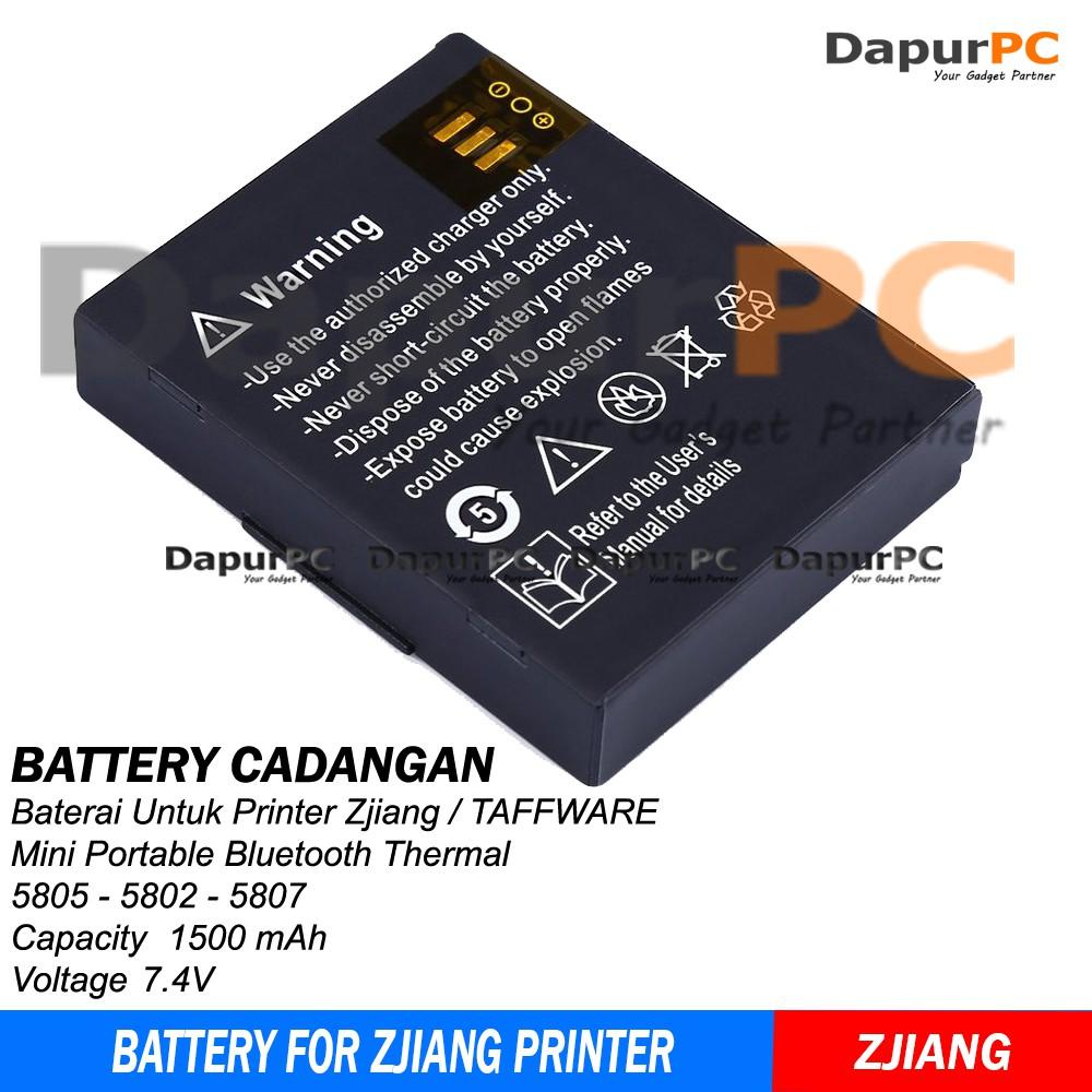 Baterai Cadangan Printer Zjiang Bluetooth Thermal 5805 5802 5807 Vrtec Taffware Shopee Indonesia