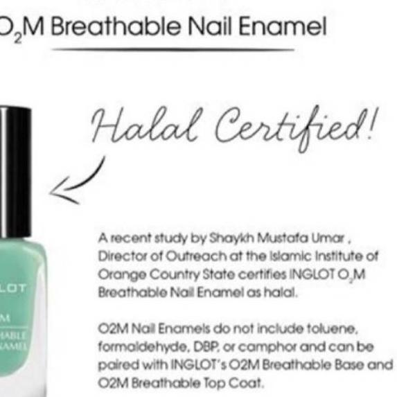 Menarik Inglot Breathable Nail Polish O2m Halal Non Matte Series Pilih E 601 S D 700 Shopee Indonesia
