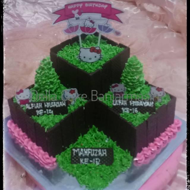 Kue Ultah Hello Kitty Kue Ultah Banjarmasin Shopee Indonesia