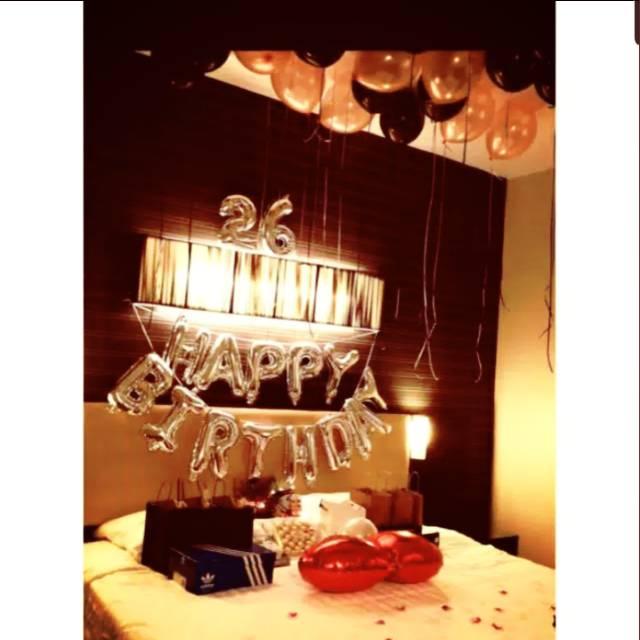 Paket Simple Happy Birthday Decoration Bedroom Decoration Simple Bedroom Shopee Indonesia