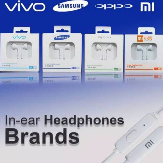 HANDSFREE SAMSUNG / HEADSET OPPO / EARPHONE XIAOMI NON KARET