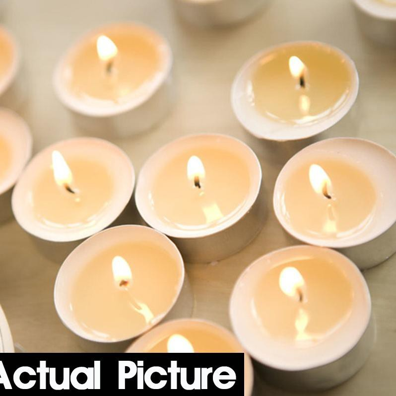 10pcs Weding Xmas Party Decor Vase Tea Light Candles Scented Tealights 5 Colors