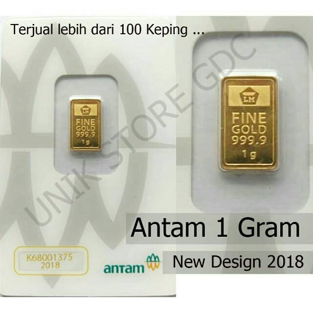 Emas Antam 1 Gram 2018 New Edition Kemasan Press Lm 1 G Gr Shopee