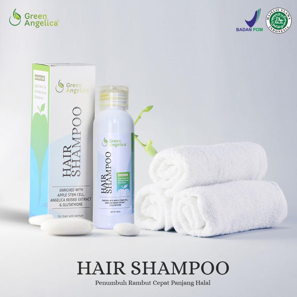 Shampo Penumbuh Rambut Rambut Rontok, Berabang dan Shampo Anti Ketombe Green Angelica Hair Shampoo