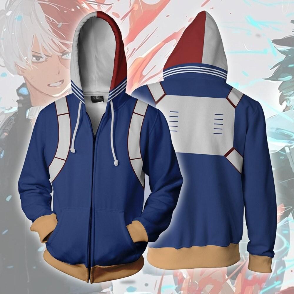 Boku no My Hero Academia Shouto Todoroki Costume Zipper Hoodie Sweatshirt Jacket