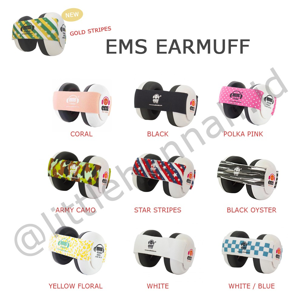 Ems Earmuff For Bub Black Shopee Indonesia Adjustable Headband Lemon Floral Baby