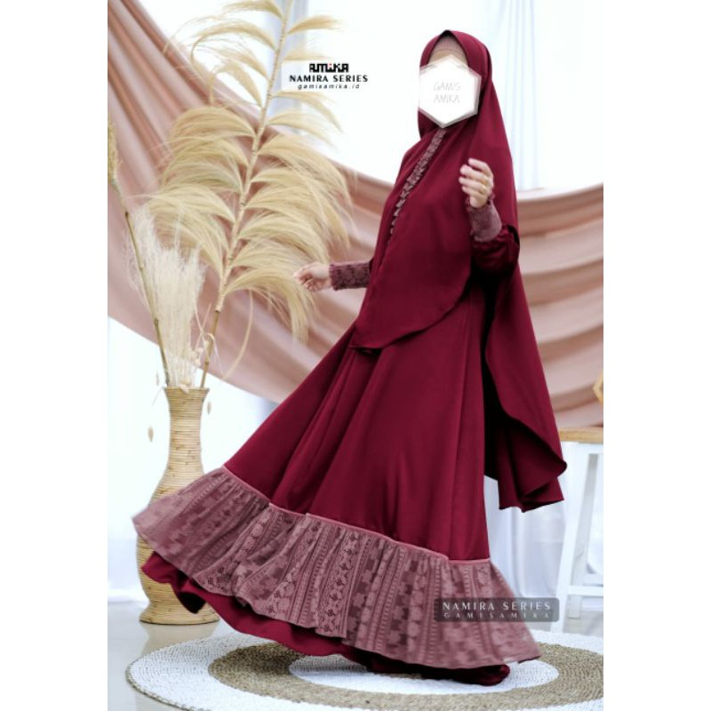 Gamis Amika Namira Brokat Series Gamis Only Shopee Indonesia