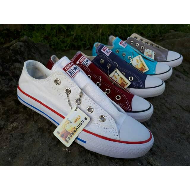 Sepatu Lukis Stitch Model Low Converse  bf3e4779e0