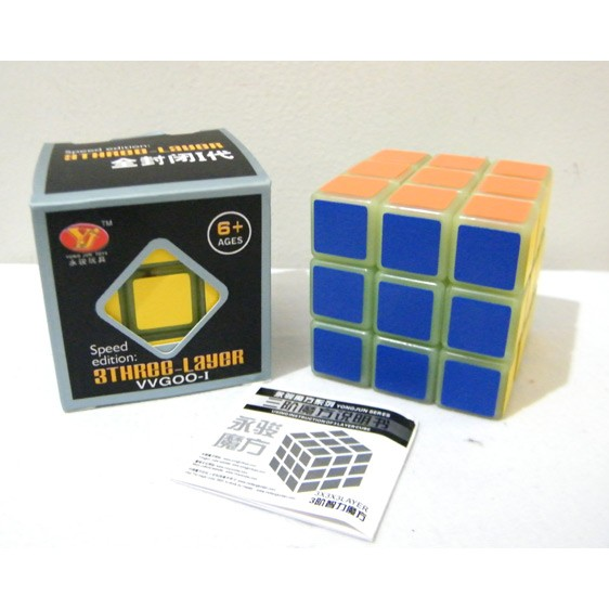 Rubik 3x3 SPEED Edition Glow In The Dark, Round Edge Yong Jun original | Shopee Indonesia