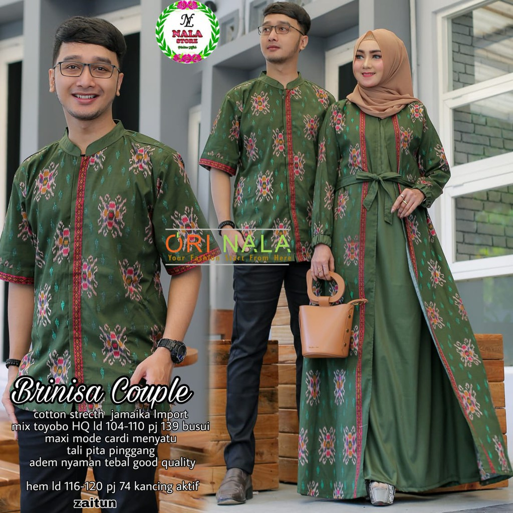 Couple Brinisa - Couple Gamis - Sarimbit Batik