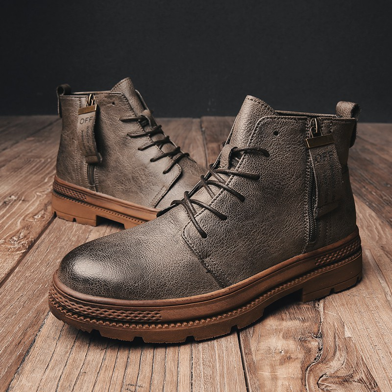 Sepatu Boots Pria Gaya Inggris Vintage Untuk Musim Dingin Riding Kl2779 Shopee Indonesia
