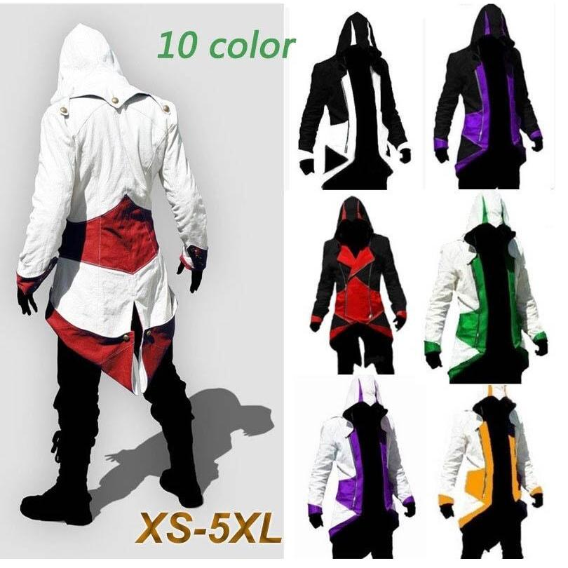 Jaket Hoodie Anime Assassin S Creed Ukuran Besar Shopee Indonesia